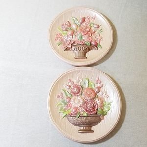 Vintage Ceramic Plaques, Set of 2